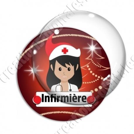 Image digitale - Infirmière thème noel
