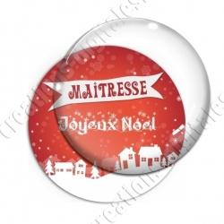 Image digitale - Maitresse - Joyeux noel paysage rouge