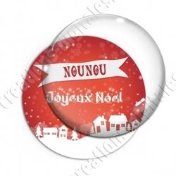 Image digitale - Nounou - Joyeux noel paysage rouge