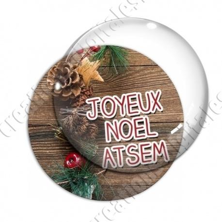 Image digitale - ATSEM- Joyeux noel  boisé