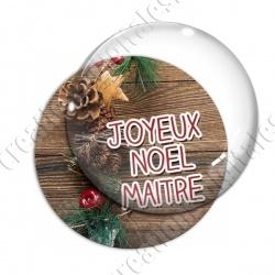 Image digitale - Maitre - Joyeux noel  boisé