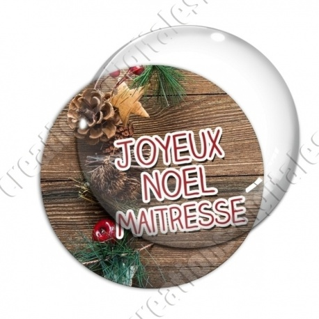 Image digitale - Maitresse - Joyeux noel  boisé