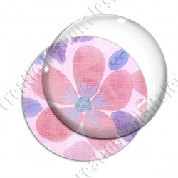 Image digitale - Fond fleurs roses 07 recadré