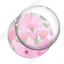 Image digitale - Fond fleurs roses 08