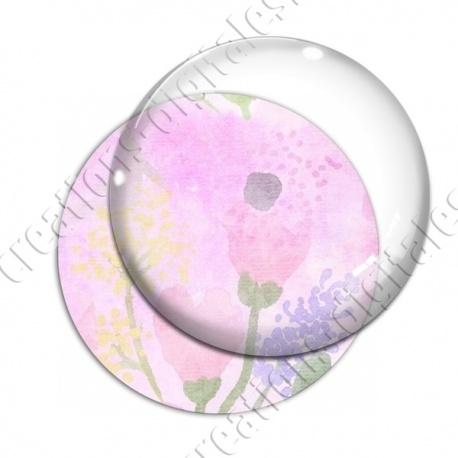 Image digitale - Fond fleurs roses 09 recadré