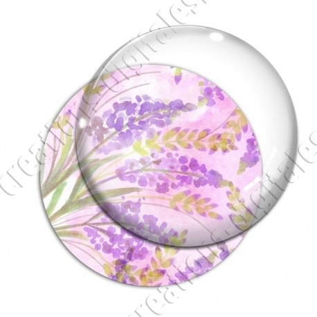 Image digitale - Fond fleurs violettes 01