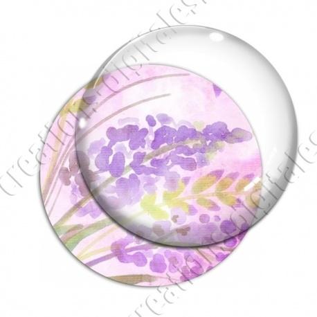 Image digitale - Fond fleurs violettes 01 recadré