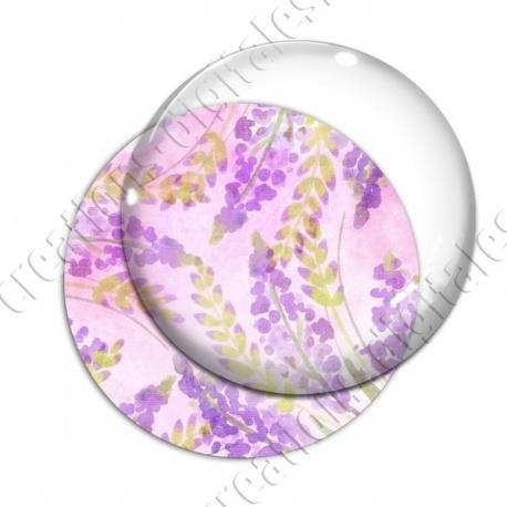 Image digitale - Fond fleurs violettes 02
