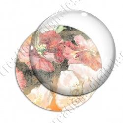 Image digitale - Fond fleurs rouges 03