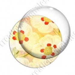 Image digitale - Fond fleurs blanches 06