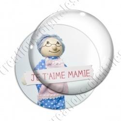 Image digitale - Je t'aime mamie - Poupée