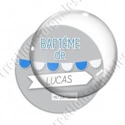 Image digitale - Baptême de - Fond gris