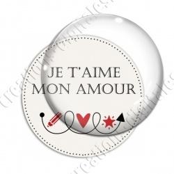 Image digitale - Mon amour - Flèche bouclée