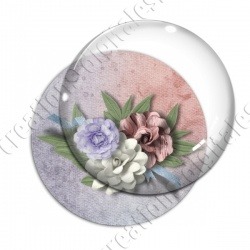 Image digitale - Composition florale 3 - Fond bicolore