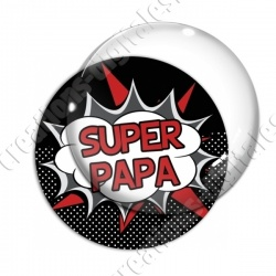 Image digitale - Comics - Super papa- Rouge
