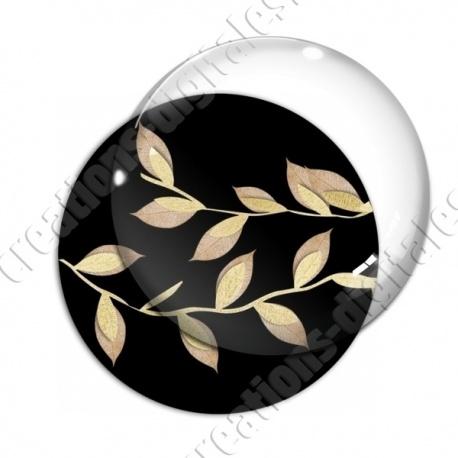Image digitale - Feuilles dorées