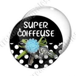 Image digitale - Super coiffeuse fleur bleue 02