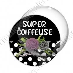 Image digitale - Super coiffeuse fleur violet 01