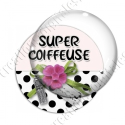 Image digitale - Super coiffeuse fleur rose 01