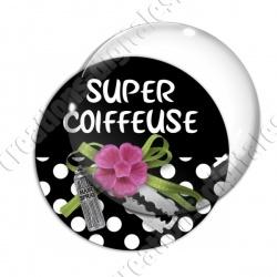 Image digitale - Super coiffeuse fleur rose 02