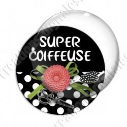 Image digitale - Super coiffeuse fleur rouge 01
