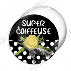 Image digitale - Super coiffeuse fleur jaune 01