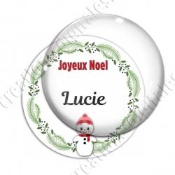 Image digitale - Joeux Noël - Femme de neige