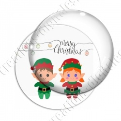 Image digitale - Merry christmas couple lutins