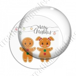 Image digitale - Merry christmas couple gingerbread