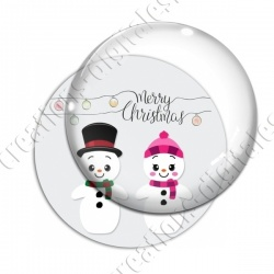Image digitale - Merry christmas couple snowman