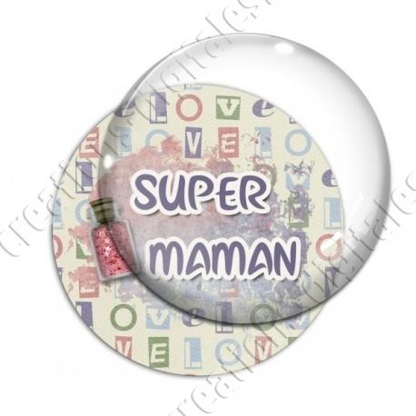 Image digitale - Super maman - glitter