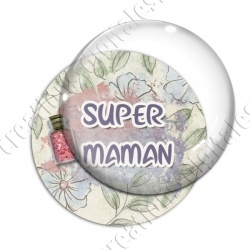 Image digitale - Super maman - glitter2