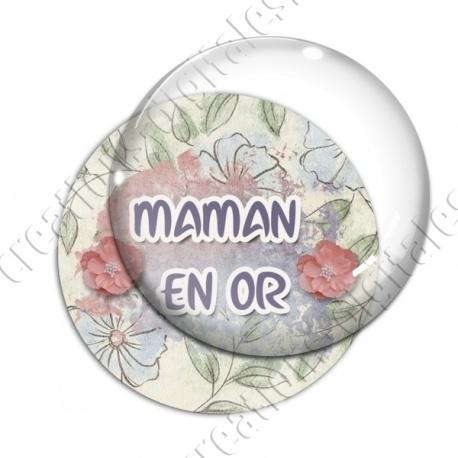 Image digitale - Maman en or - fleurs2