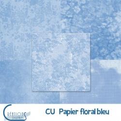 CU Papier Floral bleu