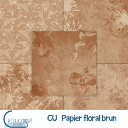 CU Papier Floral brun