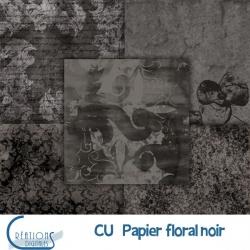 CU Papier Floral noir