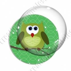Image digitale - Hibou vert sur fond vert