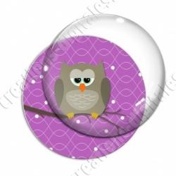 Image digitale - Hibou brun sur fond violet