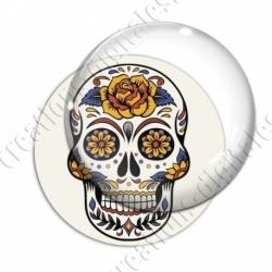 Image digitale - Halloween - Tête de mort illustrée 02