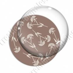 Image digitale - Motif fleur à tige marron
