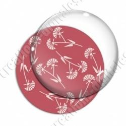 Image digitale - Motif fleur à tige rouge