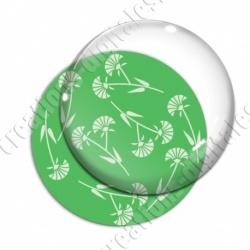 Image digitale - Motif fleur à tige vert