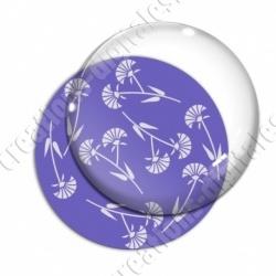 Image digitale - Motif fleur à tige violet