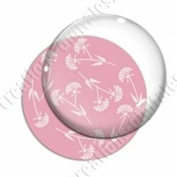 Image digitale - Motif fleur à tige rose