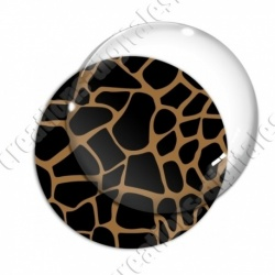 Image digitale - Motif girafe marron
