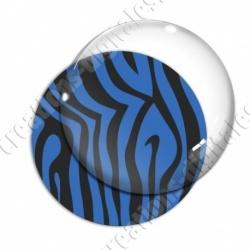 Image digitale - Motif zèbre bleu
