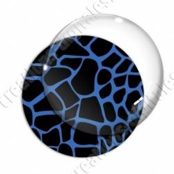 Image digitale - Motif girafe bleu