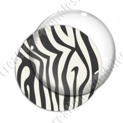 Image digitale - Motif zèbre blanc